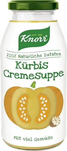 Knorr Kürbis Cremesuppe im Glas, vegetarisch und glutenfrei, 3er Pack (3 x 450 ml)