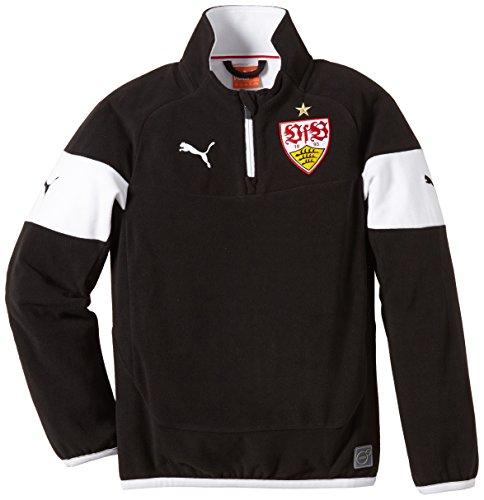 PUMA Kinder Sweatshirt VFB Stuttgart Training Fleece, Black-White, 176, 746051 02