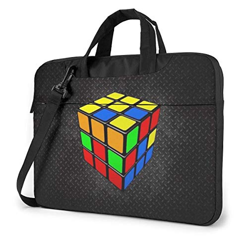 15.6″Lightweight Laptop Notebook Shoulder Backpack Bag Color Cube Waterproof PC Briefcase Messenger with Strap