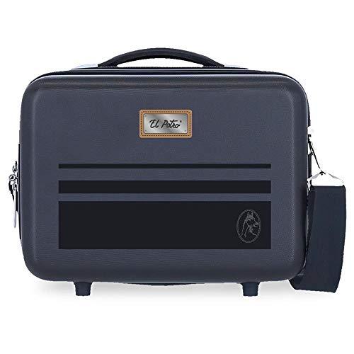 El Potro Chic Neceser Adaptable Azul 29x21x15 cms Rígida ABS 9,14L