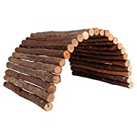 Natural bridge for rabbits Made from real beech wood High quality design Real eye-catcher A place to hide and to add decoration to your cage Good value High quality design