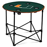 Logo Brands NCAA Miami Hurricanes Round Table, One Size, Team Color