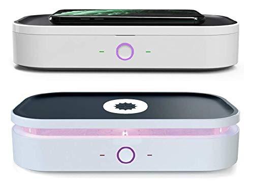 MedX5 2in1 UV-C Sterilisator & Wireless Charger, UV Box mit 360° Desinfektion, Vollsterilisation gegen Viren und Bakterien für Smartphone & Alltagsgegenstände
