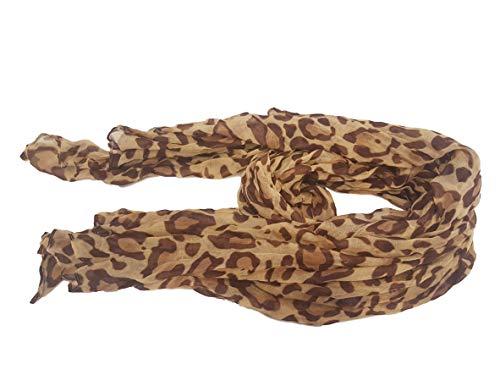 Braun Leopard Schal. Grand, weich, Profiratsche Schal Modus für Damen (Brown Leopard Print Scarves Big Soft Oversize Ladies Wrap Celebrity Fashion Gift Scarf) Short