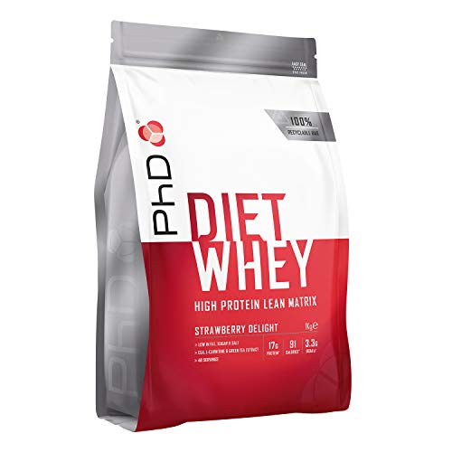 PhD Nutrition Diet Whey Protein Powder, 1 kg, Strawberry Delight