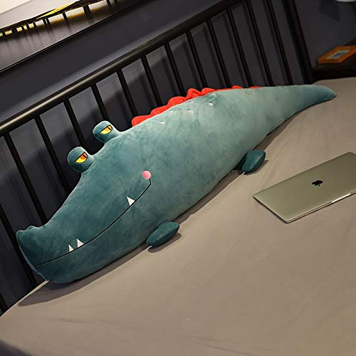 KXCAQ 80-120 cm Grande de Peluche de cocodrilo de Peluche Suave Animal de Dibujos Animados Almohada Cama cojín para Dormir niña niños...