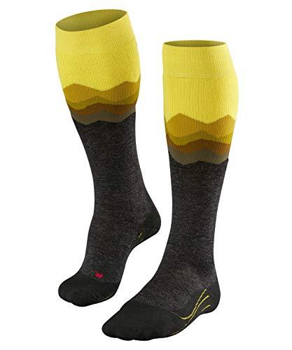 Falke SK2 Crest Skisokken voor heren, merinowolmix, 1 paar, verschillende kleuren, maat 39-48 - vochtregulerend, sneldrogend, verwarmend effect, middelsterke bekleding.