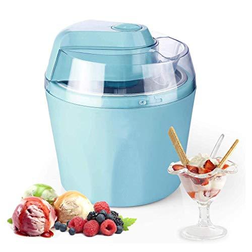 WZLJW Fabricante de Helado de máquina, 1.5L eléctrico con función de Temporizador y congelación extraíble Bowl, Sorbete de Yogurt / 15-25 Min, fácil de Limpiar ggsm