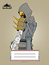 Fortnite Composition Notebook: Mystery Guy with mask and beard, Wide Ruled 7.5 x 9.25 inches, 110 pages, back to school writing pad for kids, boy, ... and Office Supply, Journal and Writing Books)