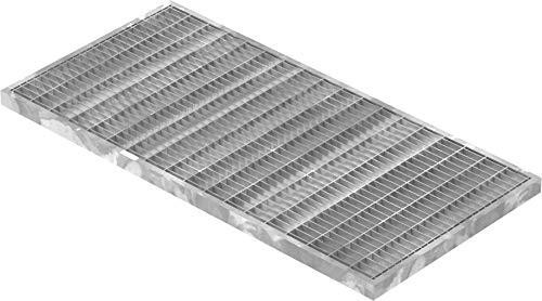 Fenau | Gitterrost/Baunorm-Rost Maße: 290 x 590 x 20 mm - MW: 30 mm / 10 mm (Vollbad-Feuerverzinkt) (Passend für Zarge: Fenau 300 x 600 x 23 mm) Industrie-Norm-Rost für Lichtschacht