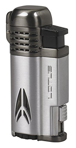 Lotus Defiant Quad Pinpoint Lighter (Chrome & Dark Gunmetal)