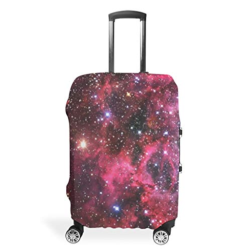 Galaxy Travel Luggage Case Cover Protector - Nebula Personalized 4 Sizes fits Most Baggage white8 m (60x81cm)