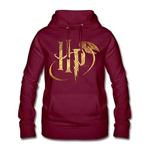 Harry Potter Logo HP Frauen Hoodie, XL, Bordeaux