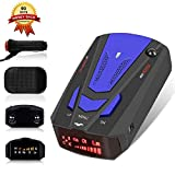 Laser Radar Detector for Cars, Prompt Speed, LED Display, City/Highway Mode, 360 Degree Detection Policy Radar Detectors Kit (FCC)