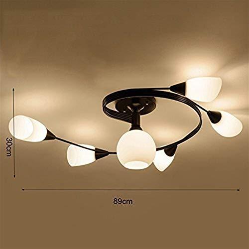 Jkckha Modern Lámparas pendientes de Led luz de techo, techo moderna ligera de acrílico con sombras techo de la habitación de estar Corredor de habitaciones, 89 * 30cm Adecuado para dormitorio, sala d