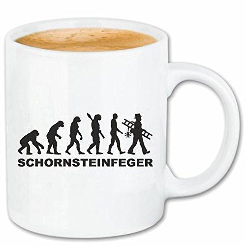 Reifen-Markt Kaffeetasse Schornsteinfeger - KAMINFEGER - Kamin - SCHORNSTEIN - GLÜCKSBRINGER Keramik 330 ml in Weiß