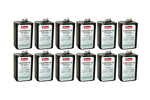 12x Nissen Batterie 4R25 Konstant 45 6V 45-50Ah Baustellenleuchten Baustellenlampen Blinklampen