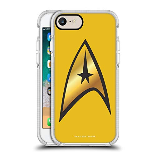Head Case Designs Officially Licensed Star Trek Command Solo Uniforms And Badges TOS White Shockproof Gel Bumper Case Compatible With Apple iPhone 7 / iPhone 8 / iPhone SE 2020