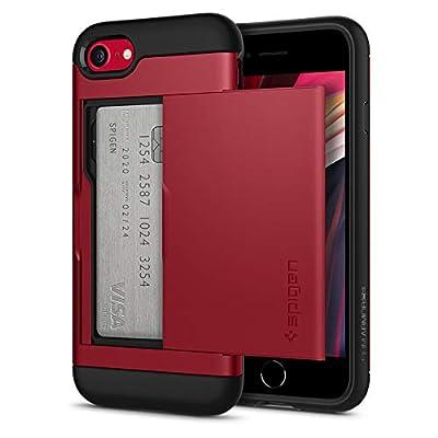 Spigen Slim Armor CS Designed for Apple iPhone SE 2020 Case/Designed for iPhone 8 Case (2017) / Designed for iPhone 7 Case (2016) - Red