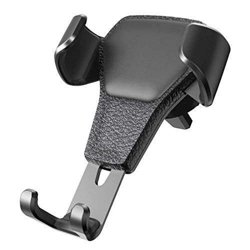 Adecuado para soporte de teléfono de coche, salida de aire del coche, soporte de gravedad, soporte universal de cuero de grano de navegador, no daña las manos.