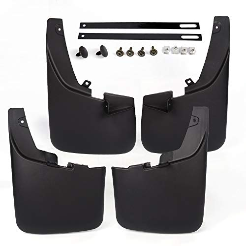 CHEDA 4PCS Splash Guards Mud Flaps Mudflaps Compatible for Ford 2011-2016 F250 F350 with Factory Fender Flares Super Duty Front Rear