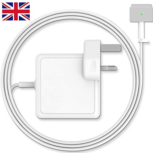 MARVELLER MacBook Pro Charger, AC 60w Magsafe 2 Power Adapter Magnetic T-Tip Connector Charger for Mac Book Air 13-inch(Before Mid 2012 Models)