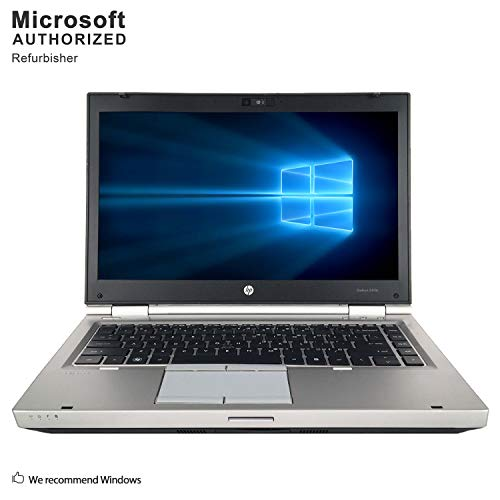 HP EliteBook 8460p 14 Inch Business Laptop, Intel Core i5 2410M up to 2.9GHz, 8G DDR3, 256G SSD, WiFi, DVDRW, VGA, DP, Windows 10 64 Bit Multi-Language Supports English/French/Spanish(Renewed)