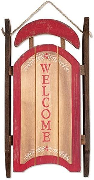 Sunset Vista Designs Wooden Welcome Sleigh Wall Decor 12 5