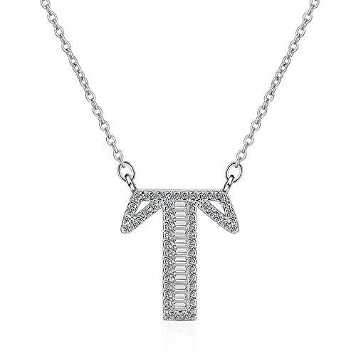 MCAdianpu dames/meisjes echt zilver initialen hanger ketting modesieraad beste geschenken