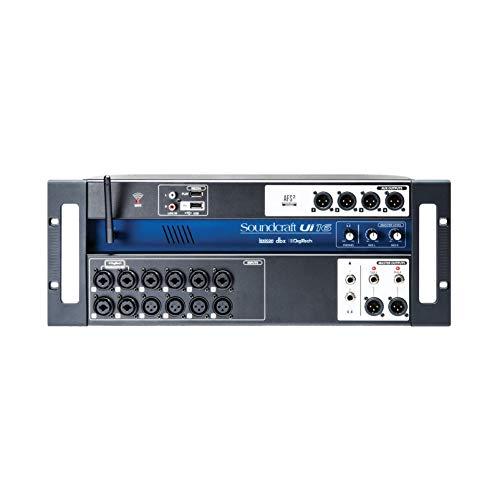 Soundcraft Ui12Digitaler Mischer mit 12 Kanälen und Fernsteuerung, schwarz Kanal 16 16 Channel