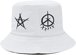 R.M. Fingertoys KPOP BTS Moda Informal Tapa Bangtan Ni/ños Verano Sombrero de Pescador Abanicos Hip Hop Abanicos Pescador Gorra para Hombre Mujer y A