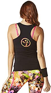 dea7b59cca22c Zumba Fitness Athletic Graphic Design Dance Workout Racerback Tank Top for  Women Slim Fit Femme