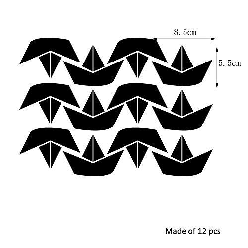 WHFDRHQT Muurtattoo Muursticker creatieve doe-het-zelf leuke kleine boot muursticker besturing decor woonkamer spiegel venster muursticker voor kinderkamer kinderkamer zwart