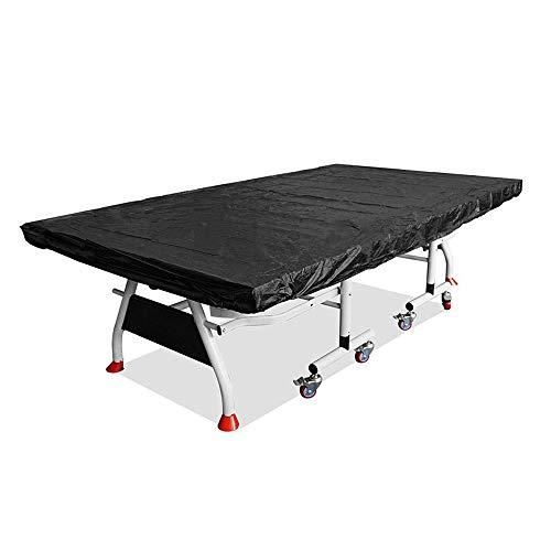 FYZS Terrasse Tischtennisplatte Cover, Heavy Duty Außentischtennis-Abdeckung, Wasserdicht Sonnenschutz Tischtennis Schreibtisch Schatten-Kasten (Color : Black, Size : 280×150×5cm)