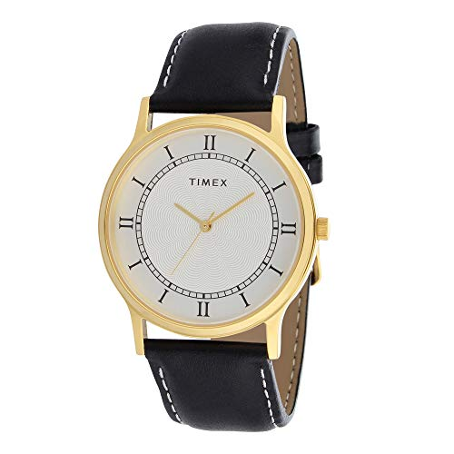 """TIMEX Analogue Men's Watch (White Dial Black Colored Strap)"""""""
