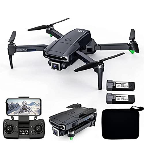 XIAOKEKE GPS Professionale Drone Pieghevole, Portatile Drone Radiocomandato Con Fotocamera 4K Grandangolare Regolabile A 120°, Drone Telecomandato Per Gli Appassionati Di Fotografia Aerea (2 Batterie)