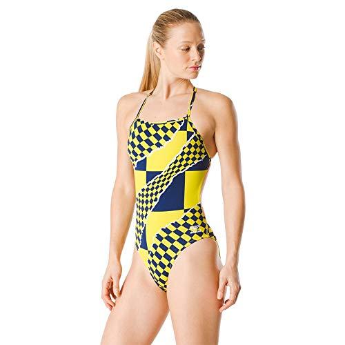 costume da bagno donna oro Speedo Costume intero da donna Endurance The One Printed Team Colors