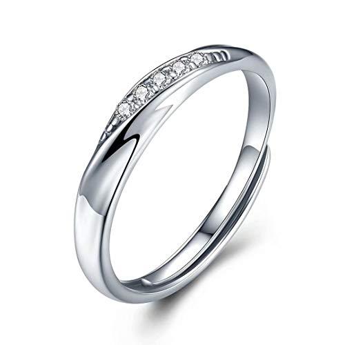 JUDYの秘密<愛の言葉>スワロフスキージルコニア 純銀製指輪 レディースリング 女の指輪 結婚指輪 婚約指輪 エンゲージリング 専用ボックスつき フリーサイズ(レディースリング石あり)