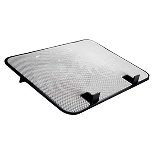 ESTK Water Cooling Laptop Cooling Pad, Quiet Fans Portable Cooling Base Cooler Pad Computer Mat, Gaming Laptop Stand for Home and Office/White