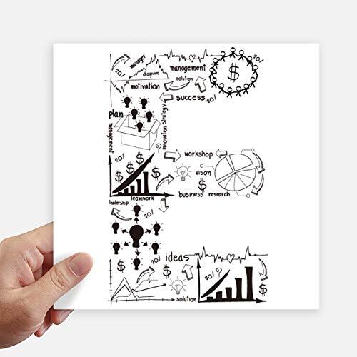 DIYthinker Travail Simple Brainstorm Illustration Courbe données Autocollant carré de 20 cm Mur Valise pour Ordinateur Portable Motobike Decal 4Pcs 20Cm X 20Cm Multicolor