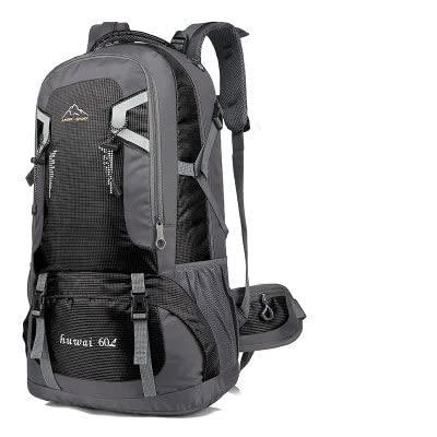 60L Uomini Escursionismo all' Aperto Zaino da Viaggio Arrampicata Trekking Zaino Sport Campeggio Zaino Zaino Scuola Borsa Pack for Donne Femminili Maschi (Color : Black, Size : 40L)