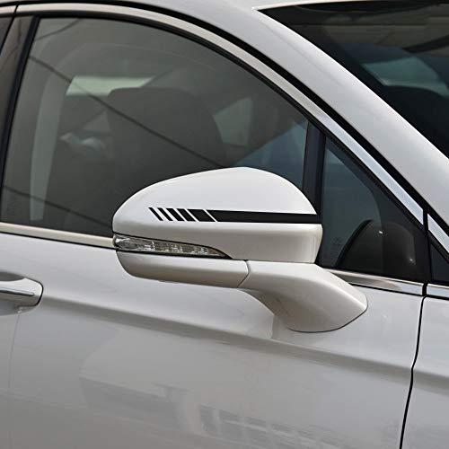 Senzeal 2PCS Car Rear View Mirror Stickers Decor DIY Car Body Sticker Side Decal Stripe Black