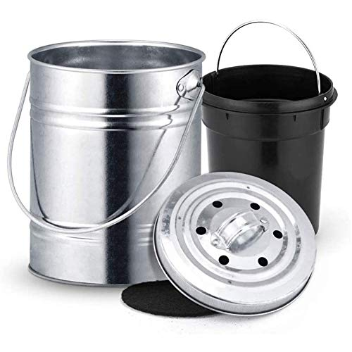 Best Price GRASSAIR 3L Kitchen Compost Bin Stainless Steel Compost Bucket with Lid Homemade Organic ...
