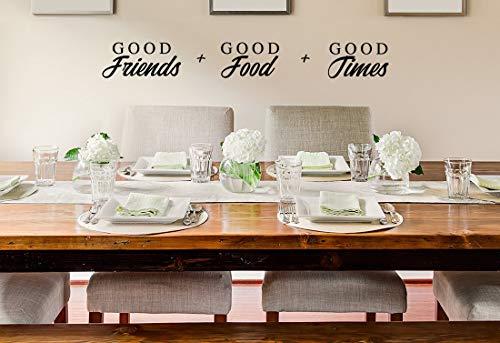Goede Vrienden Goede Voedsel Goede Tijden Muursticker Keuken Muursticker Keukenbord Keuken Muur Art Vinyl Decal Muursticker Muur Kunst