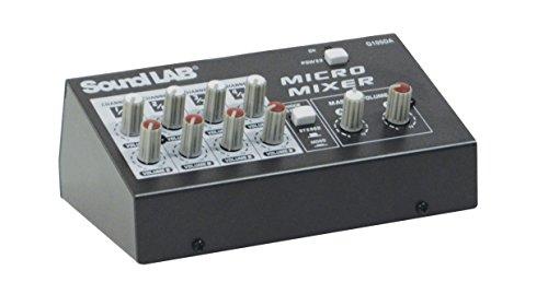 SoundLab Mezclador de micrófono estéreo de 4 Canales