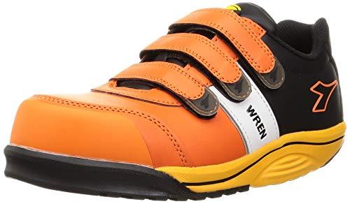 [ディアドラユーティリティ] 安全作業靴 JSAA認定 マジックタイプ 耐油 プロスニーカー WREN レン WR712 オレンジ/ホワイト/ブラック 27.5 cm 3E