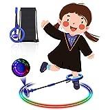 Diealles Shine Bola de Salto de Tobillo, LED Saltar Bola Plegable Anillo de Salto Intermitente Colorida Flash Bola de Salto Anillo de Salto de Tobillo Pelota de Baile para Niños (Azul)