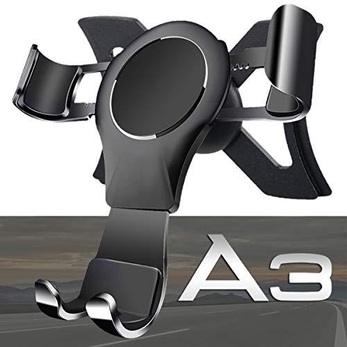 Porta Cellulare da Auto per Audi A3 / S3, 360 Rotatable Porta Cellulare Auto Gravity Smartphone Supporto Metallo Lega di Alluminio Universale Audi Phone Holder Car Phone Holder