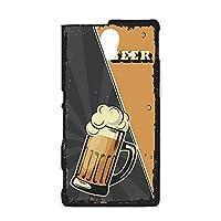 ハードケース スマホケース Xperia UL SOL22 用 BEER ビール・ブラック ビンテージ アメリカン レトロ USA SONY ソニー エクスペリア ユーエル au スマホカバー けーたいケース けいたいカバー beer_00z_h191@01