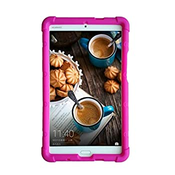 MingShore Case for Huawei MediaPad M3 8.4   Tablet Cover【NOT M5/M6 8.4】 BTV-W09 BTV-DL09 Kids-Friendly Silicone Rugged Tablet Case Raspberry